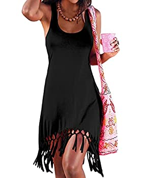 pinziko Women s Summer Beach Dress Bikini Cover Up Casual Vacation Short Dresses