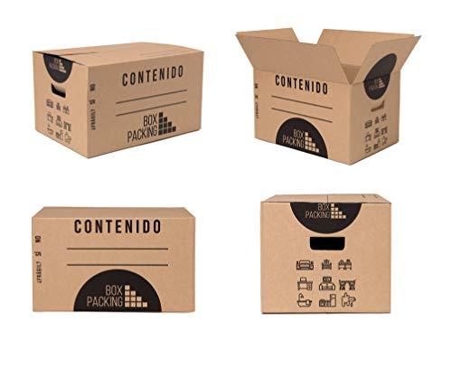 BOXPACKING | Umzugskartons | 20 Stück | 430x300x250 mm | Verstärkte Einkanal-Wellpappe| Extra Stabil & Stapelfähig | Griffeverstärkte