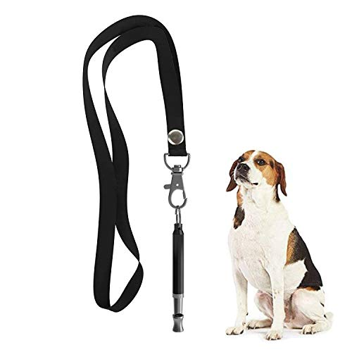 Hivernou Dog Whistle to Stop Barking, Adjustable Pitch Ultrasonic Training Tool Silent Bark Control for Dogs- Pack of 1 PCS Whistles with 1 Free Lanyard Strap