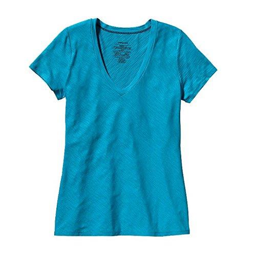 Patagonia W 'S Necessity T-Shirt à col en V pour Femme M Bleu