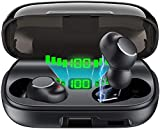 Wireless Earbuds, Bluetooth 5.0 Headphones with Smart LED Display Charging Case, Touch Control True Wireless Earbuds in-Ear Built in Mic