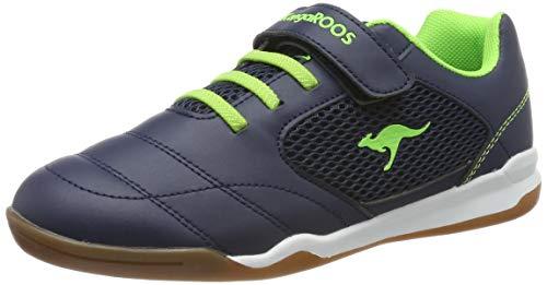 KangaROOS Unisex-Erwachsene Incourt EV Sneaker, Gelb (Dk Navy/Lime 4054), 37 EU