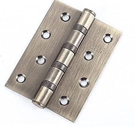 4 unids bisagra de la puerta 4 pulgadas 3.0 mudo bisagra engrosada 2 piezas de acero inoxidable bisagras bisagras de plata con tornillos (Size : D)