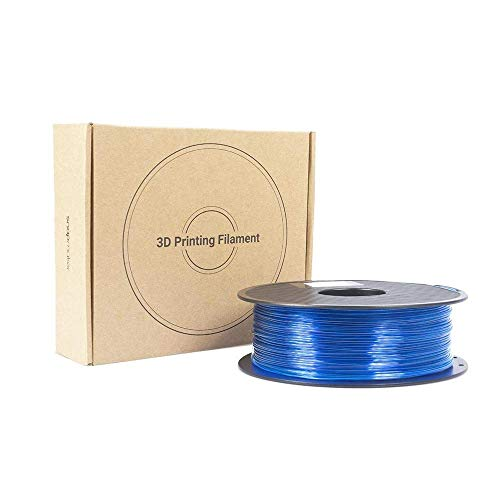 1.75mm PETG 3D Printer Filament, 1kg Spool (2.2 lbs), Blue