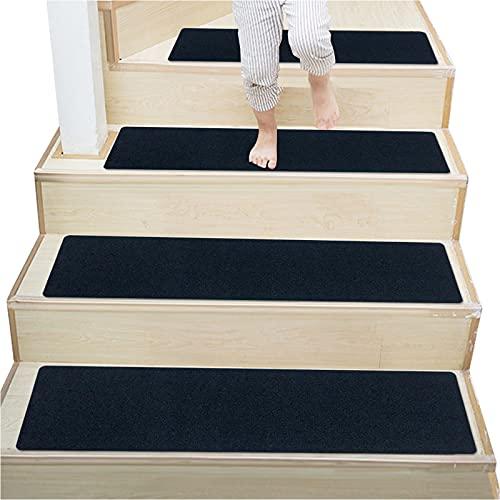 """DLD 30""""X 20"""" Antiscivolo Scale Scale in Legno per Interni Scale Antiscivolo Tappeto gradini Scale tappetini tappetini Antiscivolo tappetini (Blu Navy, 14 Pezzi)"""