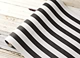 Black and White Striped Paper Table Runner - 25' Long x 20' Wide