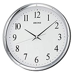 Seiko 12 Ultra-Modern Silver-Tone Wall Clock