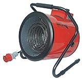 Mhteam-Eh4-09- Calefactor profesional trifásico, 9000W, color rojo