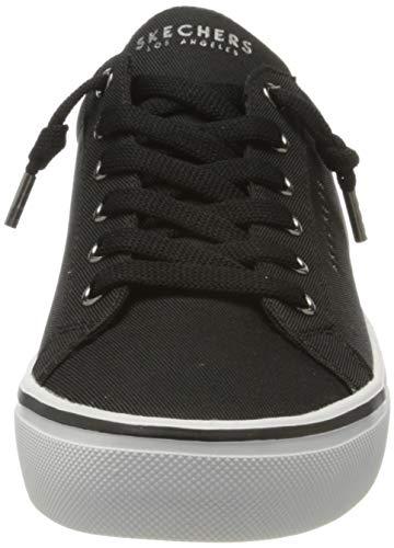 Skechers Goldie 2.0-Slip, Zapatillas Mujer, Negro (BLK Black Textile/Pewter Duraleather Trim), 40 EU