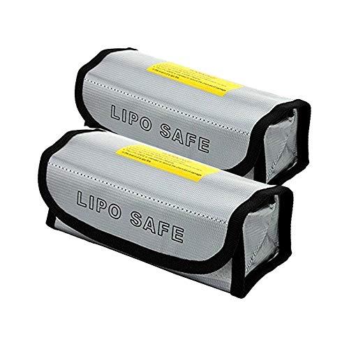 Lipo Batterie Safe Bag Feuerfest Explosionsgeschützte, Glaray Lipo Batterie Guard Safe Tasche Beutel Sack für Charge & Storage, 185x75x60mm, 2 Stück