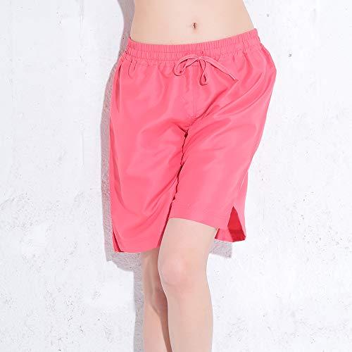 FELLOW(フェロー) 全20色柄 サーフパンツ レディース ロング丈 水着 ハーフパンツ ボードショーツ 大きいサイズ サーフィン 海水浴 プール (ピンク, L)