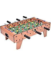 Football Game Table Wooden Tabletop Soccer Set Fun Sports Toys Compact Size with Leg for Game Room Arcades Bar Home Office Outdoor Perfect 37x69x22.5cm