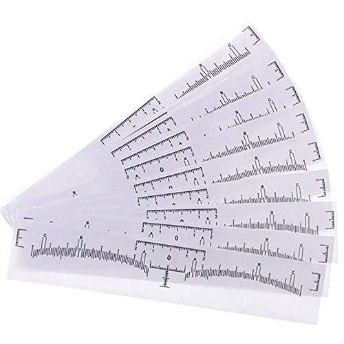 100 Stück Einweg Augenbraue Lineal,für Make up Schablonen Augenbrauen Microblading Schablone,Tattoo Aufkleber Positioniert Augenbraue Sticker Lineal Werkzeug