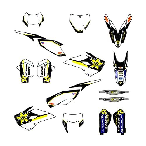 Team Moto Team Decals Graphiques Stickers Kits Déco pour Husqvarna Te Fe 125 250 350 450 2014-2016 TC FC 2014 2015 Protections Réservoir Moto