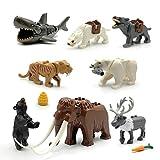 8PCS/Set City Animals Building Blocks Zoon Figures Model Mammoth Sabertooth Educational Toys Compatible Major Block