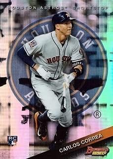 2015 Bowman's Best Refractor #58 Carlos Correa Baseball Rookie Card