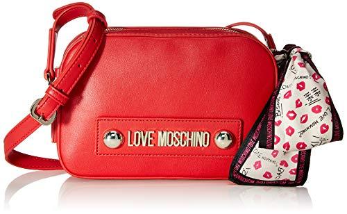 Love Moschino Jc4027pp18lc0500, Bolsa de mensajero Unisex Adulto, Rojo (Rosso), 15x6x22 centimeters...