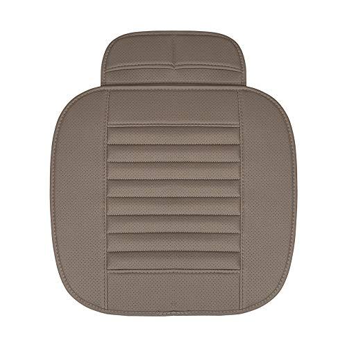 Luxiye autostoelhoezen, autostoelhoezen [bamboe houtskool] Universele stoelhoezen voor auto's, ademend, comfortabel autostoelbeschermer, voor auto-benodigdheden, bureaustoel met PU-lederen autostoelhoes. grey Single front row