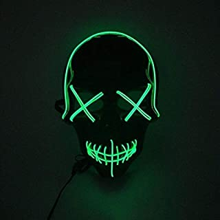 ZHAS Wire Glowing Mask Led Party Mask Disfraces de Halloween Máscara para Halloween Horror Theme Party Decorations China A2