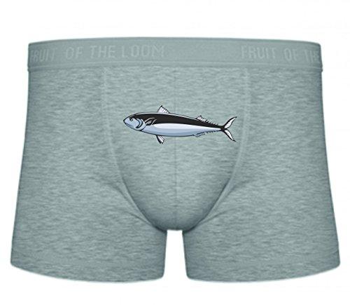 Druckerlebnis24 Boxershort Fisch Schwertfisch Goldfisch Barsch S- XXL Sexy Unterhose Slip Shorts