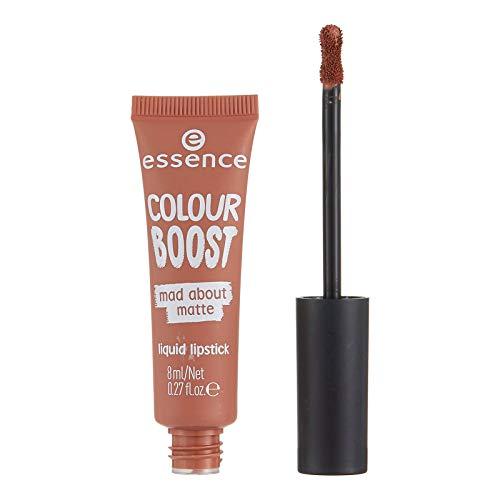 essence Colour Boost Mad About Matte Liquid Lipstick für Damen (01 dusty romance)