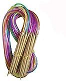 Tmade 18 Paires 60cm Aiguilles à Tricoter Circulaires en Carbonisé bambou à double pointe Crochet Différentes Tailles 2.0-10.0 mm