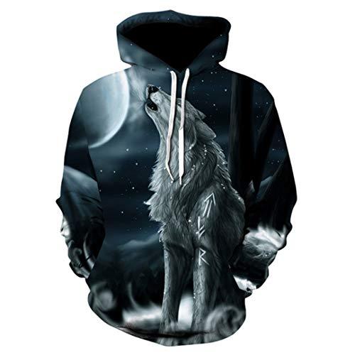 Wolf Print Hoodie Männer 3D Hoodie Marke Sweatshirt Jungen Jacke Qualität Pullover Sportswear Tier Street Jacke 6 XXXL
