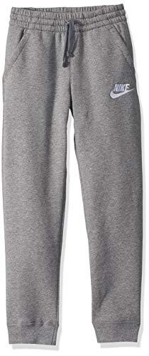 Nike Boys NSW Club Jogger Fleece Pant, Carbon Heather/Cool Grey/White, X-Large