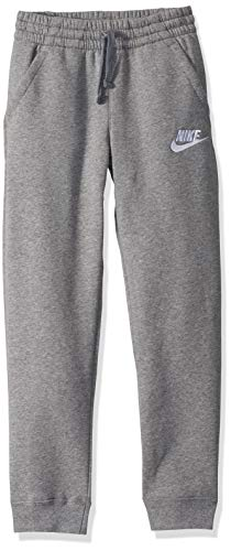 Nike Boys NSW Club Jogger Fleece Pant, Carbon Heather/Cool Grey/White, X-Large