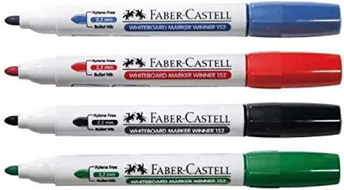 Faber-Castell Whiteboard Marker Pen (Set of 10, Black, Red, Green, Blue)