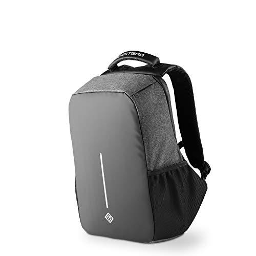 BoostBag Anti Theft Backpack - Boostboxx Anti Diebstahl Rucksack mit Fächern für Reisepass, Kreditkarte mit RFID Schutz, 15,6