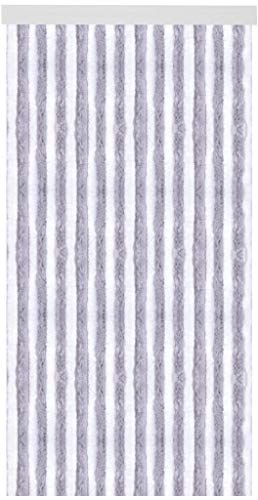 Arsvita Flauschvorhang Türvorhang 90x200 cm in Hellgrau-Weiß - viele Variationen