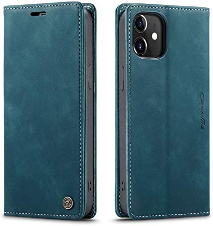QLTYPRI Case for iPhone 12 Pro Max Vintage PU Leather Wallet Case Card Slot Kickstand Magnetic product image