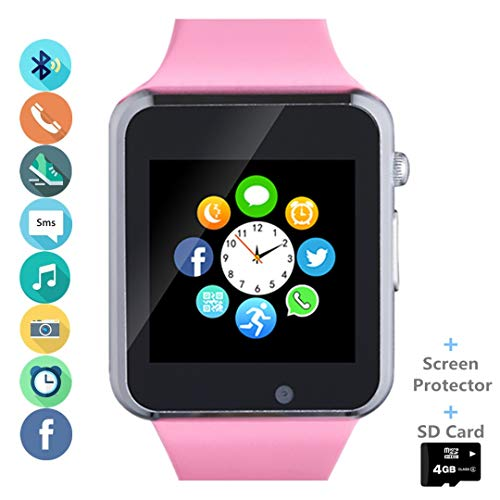 Smart Watch, Smartwatch Phone with SD Card Camera Pedometer Text Call...