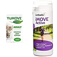 Lintbells YuMOVE Cat 60 Capsules and iMOVE Natural Joint Supplement for Humans 90 Tablets