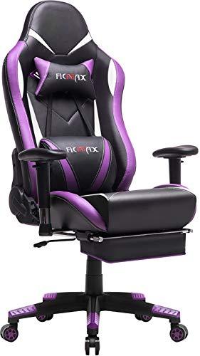 Ficmax Purple Gaming Chair High-Back Ergonomic Computer Chair
