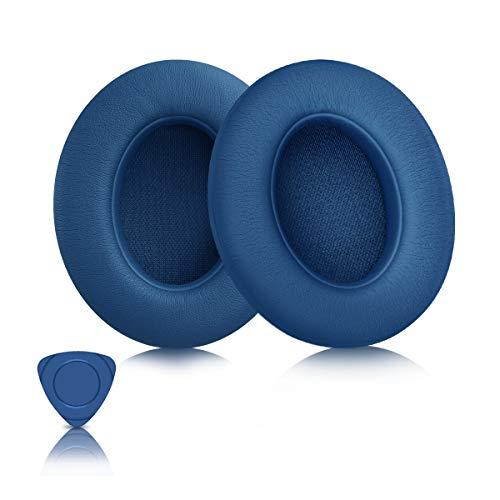 ELZO Almohadillas de Repuesto para Auriculares Beats, Almohadillas Professional para Auriculares Beats Studio 2 y 3 con Cable/inalámbricos/Espuma viscoelástica y con Aislamiento de Ruido 3M