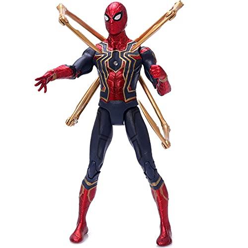LHFD Muñeca de superhéroe Marvel Avengers Infinity War Iron Spider Spiderman Figura de acción PVC Spider Man Figura de colección Modelo de Juguete 18 cm Carácter de superhéroe
