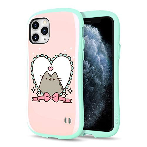 iFace x Pusheen First Class Designed for iPhone 11 Pro – Cute Shockproof Dual Layer [Hard Shell + Bumper] Case [Drop Tested] - Heart Frame