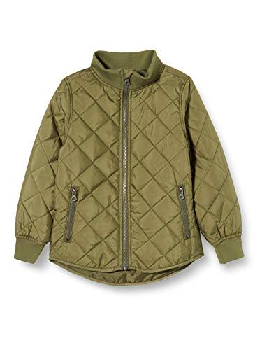 NAME IT Jungen NKMMOHAN Quilt Jacket Camp Jacke, Winter Moss, 128