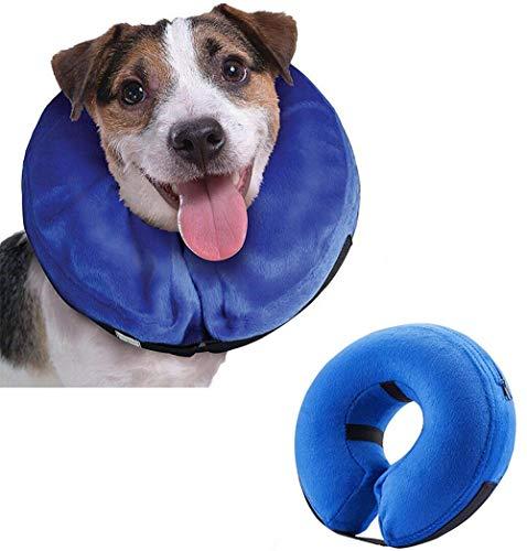 Emwel Collar hinchable para perros grandes, cómodo collar para mascota, cono para...