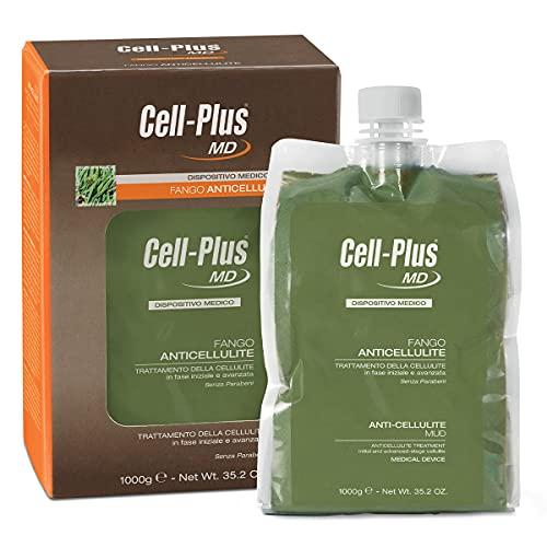 CELL PLUS MD Fango Anticellulite, Fanghi corpo con alghe oceaniche micronizzate e argilla, Trattamento anticellulite con texture cremosa, Dispositivo medico CE, 1000 g