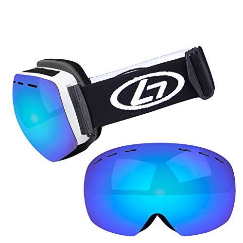 Icegrey Skibrille für Brillenträger Damen Herren UV Schutz OTG Schneebrille Snowboardbrille Polarisiert