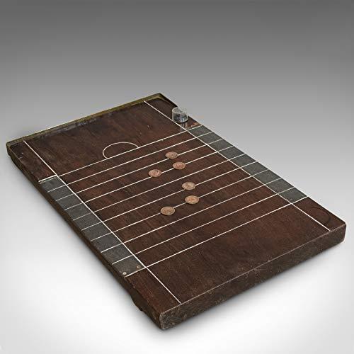 Generic Antique Shove Ha'penny Board Englisch Mahagoni Reise Gaming Münzen 1900