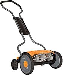 Fiskars Reel Mower, non-contact cutting lawn mower, cutting width: 43 cm, StaySharp Plus, Black / Orange / Silver, 1015649
