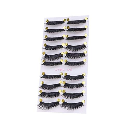 10 Paar 3D Nachahmung Wimpern dichten langen Wimpern natürlichen Look für Frauen Make-up Schönheit