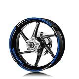 Motocicleta Frente Trasero Rueda Rueda Rueda Reflectante Etiqueta de neumáticos Logotipo Decorativo...