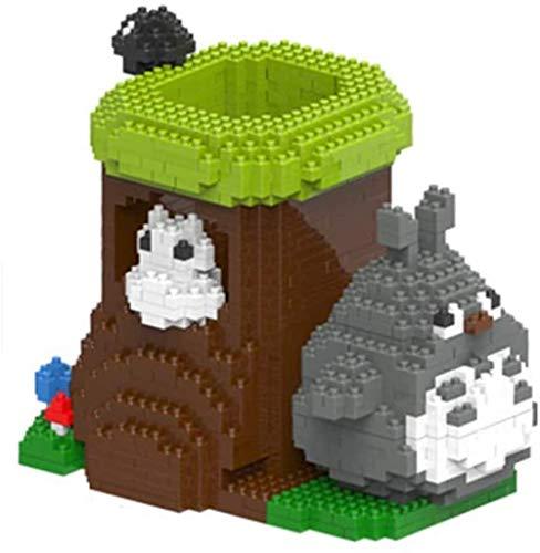 XXSDDM-WJ Gift Building Blocks My Neighbor Totoro Cartoon Pen Holder Model Building Block Set 1751+ PCS Nano Mini Blocks DIY Toys 3D Puzzle DIY Educational Toys Easy To Grasp U3