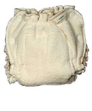 Popolini-Pañal lavable talla algodón ecológico, color caramelo Talla:Large (9-15kgs)
