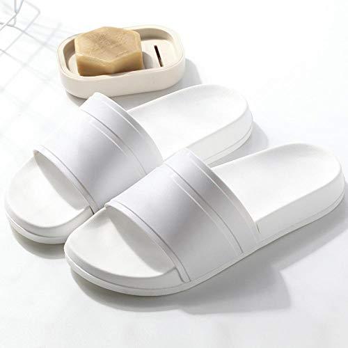 FastDirect estate casa uomini e donne pantofole semplici in bianco e nero scarpe antiscivolo bagno pantofole coppia indoor uomini e donne pantofole spesse 7.5 BWhite